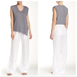 Bella Dahl White Linen Pants